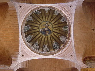 Pammakaristos Church - View of the central dome of the parekklesion with Christ Pantocrator surrounded by the prophets of the Old Testament