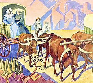 Jacobus Hendrik Pierneef - Image: JH Pierneef Die Groot Trek 1938