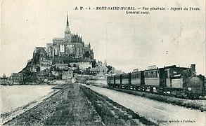JP 4 - MONT SAINT-MICHEL - Vue générale - Départ du Train.JPG