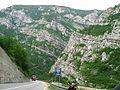 Jablanica, vrásnění vápence v kanonu Neretvy.jpg