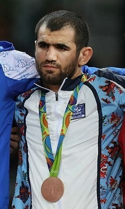 Jabrayil Hasanov at the Summer Olympics 2016 awarding ceremony.jpg
