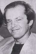 Black-and-white press photo of Jack Nicholson in 1976.