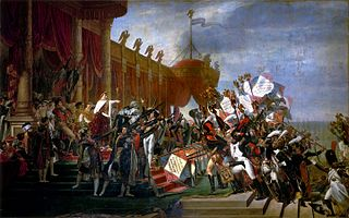 <i>The Distribution of the Eagle Standards</i> painting by Jacques-Louis David