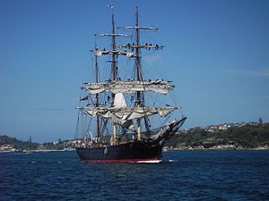 Sydney Heritage Fleet - James Craig on Sydney Harbour