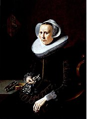 Portrait of a Woman with Embroidered Gloves