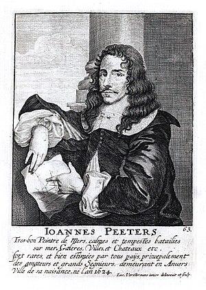 Jan Peeters I - Portrait engraving by Lucas Vorsterman II