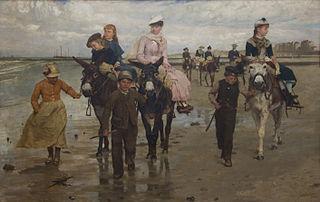 Ezelrit op het strand - Heist-aan-Zee