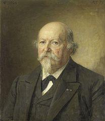 Portret van Johan Philip van der Kellen (1831-1906). Directeur van het Rijksprentenkabinet (1876-96)