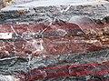 Jaspilite (Soudan Iron-Formation, Neoarchean, ~2.69 Ga; Soudan Mine, Soudan, Minnesota, USA) 3 (19031256685).jpg