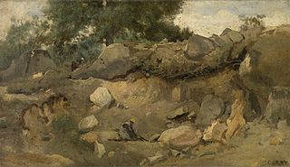 The Quarry of Chaise-Marie at Fontainebleau