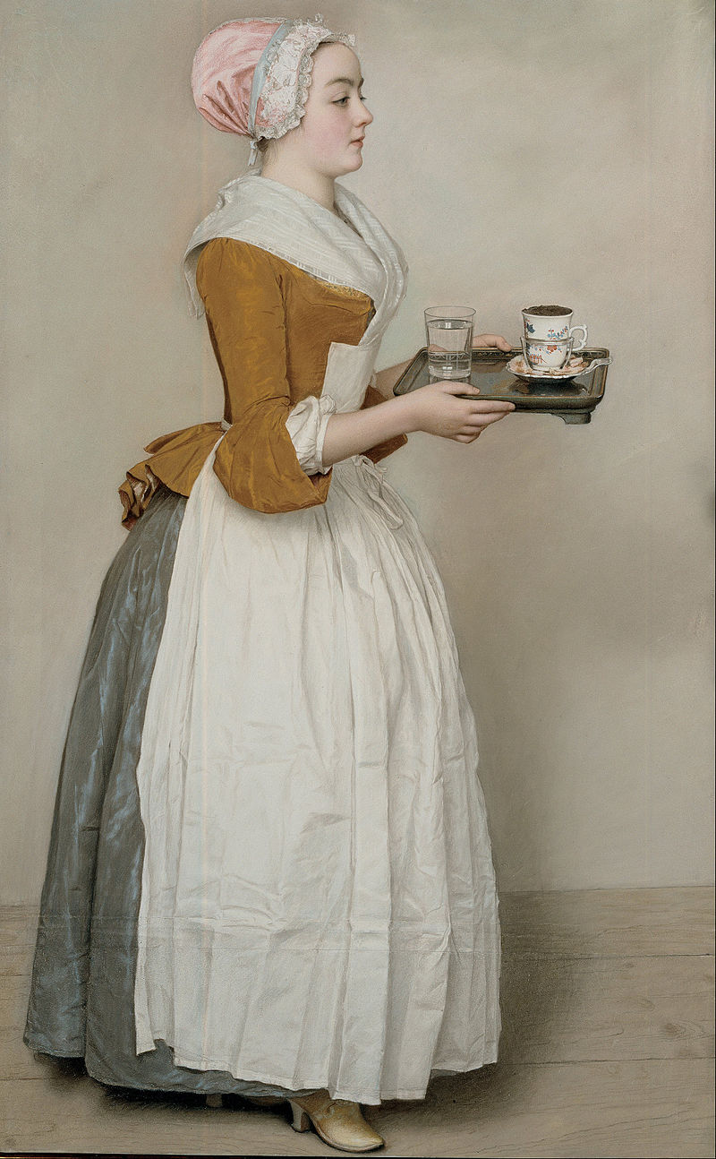 The Chocolate Girl -- Jean-Etienne Liotard -- ca. 1743-44 -- Image in Public Domain