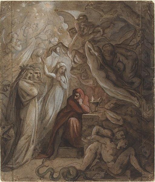 Jean-Jacques Feuchère - Dante Meditating on the Divine Comedy