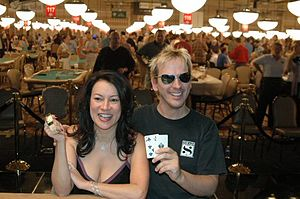 Phil Laak - Jennifer Tilly and Phil Laak right after her win at the 2005 World Series of Poker $1,000 Ladies Only Event - No Limit Hold'em.