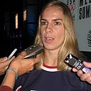 Jenny Potter at 2010 Winter Olympics US Women's Hockey press event.jpg