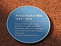 Jessie Stephen MBE blue plaque Bristol.jpg
