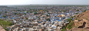 Jodhpur Panorama, seen from the Mehrangarh Fort.