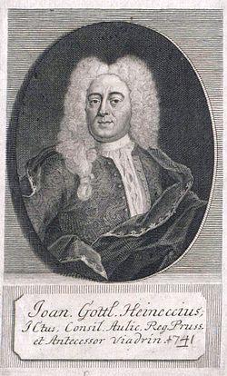 Johann gottlieb heineccius