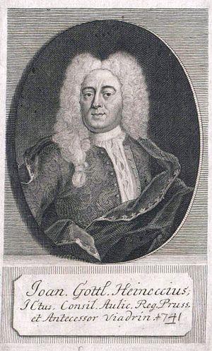Johann Gottlieb Heineccius - Johann Gottlieb Heineccius.