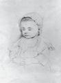 Johann Richard Seel, Mädchenbildnis, Bleistiftzeichnung, 1861.png