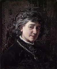 Johanne Mathilde Dietrichson - Self-Portrait - Selvportrett - Nasjonalmuseet - NG.M.01775.jpg