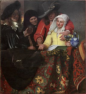 <i>The Procuress</i> (Vermeer) painting by Johannes Vermeer