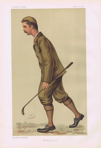John Ball (golfer) - Ball as caricatured in Vanity Fair, March 1892