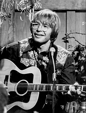 Forever Country - Of the three main artists whose songs were featured, John Denver (pictured) was the only one absent from the video as he died in 1997.