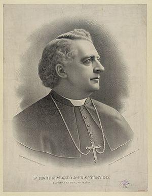 John Samuel Foley - Image: John S. Foley, D.D., Bishop of Detroit, Michigan