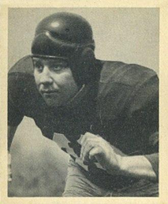 John Sanchez (American football) - Sanchez on a 1948 Bowman football card