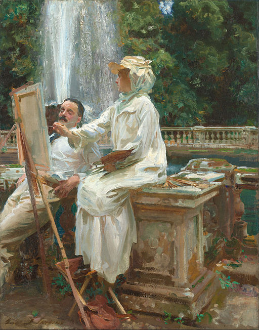 John Singer Sargent - The Fountain, Villa Torlonia, Frascati, Italy - Google Art Project