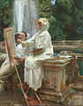 John Singer Sargent - The Fountain, Villa Torlonia, Frascati, Italy - Google Art Project.jpg