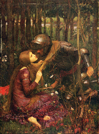 Romance (love) - La Belle Dame sans Merci 1893, by John William Waterhouse (1849-1917)