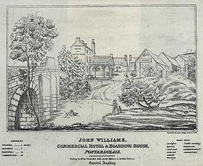 John Williams, commercial hotel & boarding house, Pontardulais