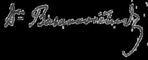 Jonas Basanavičius - Image: Jonas Basanavicius signature 1918