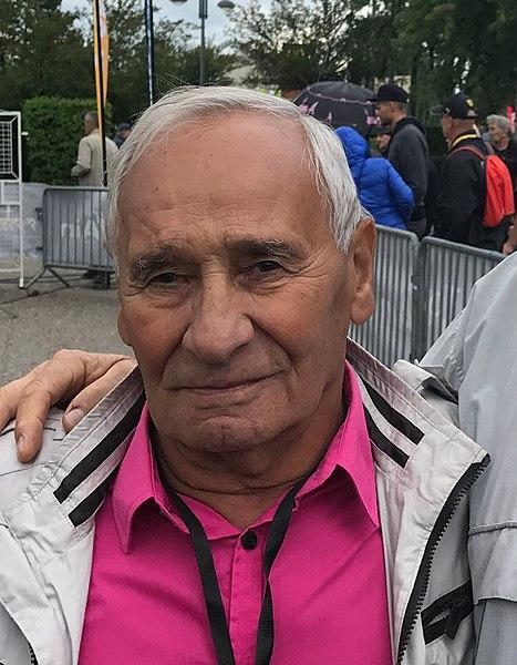 L'ancien coureur cycliste Joseph Carrara en 2017.