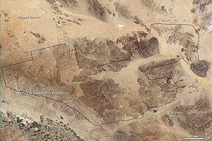Joshua Tree National Park - Joshua Tree National Park on a 2003 Landsat image