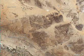Joshua Tree National Park - The park on a 2003 Landsat image