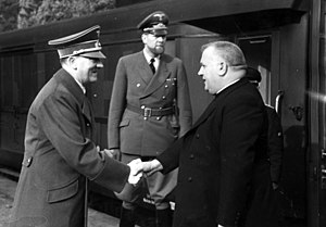 Slovak Republic (1939–1945) - Jozef Tiso with Adolf Hitler