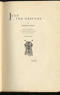 <i>Jude the Obscure</i> novel by Thomas Hardy