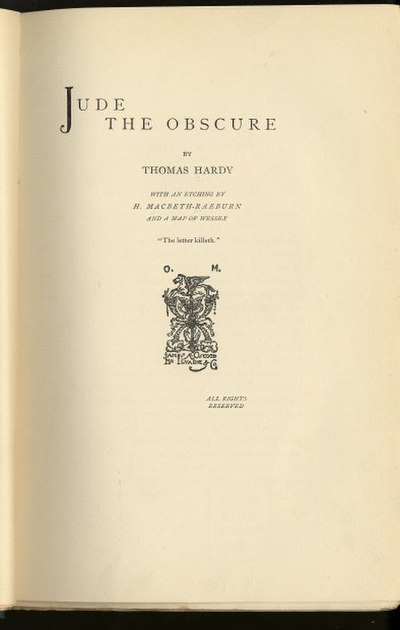 Picture of a book: Jude The Obscure