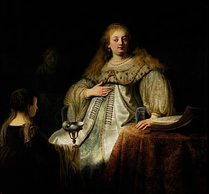 Judith at the Banquet of Holofernes (previously known as Artemisia), by Rembrandt, from Prado in Google Earth.jpg