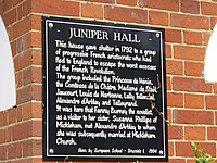 Juniper Hall Plaque - geograph.org.uk - 1397178.jpg