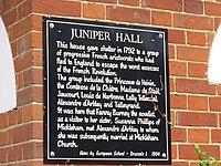 Juniper Hall Plaque - geograph.org.uk - 1397178.jpg