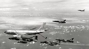Operation Linebacker - Image: KC 135A refueling Wild Weasel team Oct 1972
