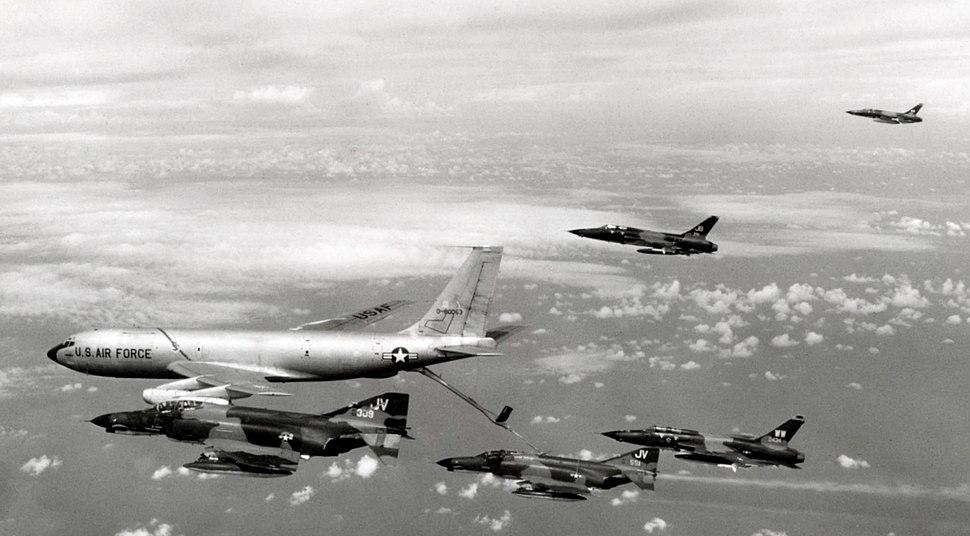 KC-135A refueling Wild Weasel team Oct 1972