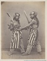 KITLV 4396 - Isidore van Kinsbergen - Bald Head Dancers (baris demang) of Boeleleng at Singaraja - 1865-1866.tif