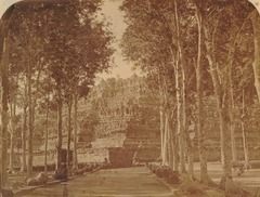 KITLV 90001 - Isidore van Kinsbergen - Northwest side of Borobudur near Magelang - Around 1871.tif
