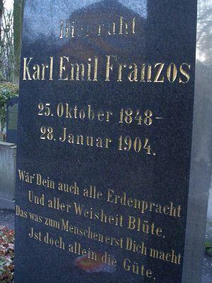 Karl Emil Franzos - Ehrengrab in Weißensee Cemetery