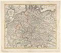 Kaart van Duitsland Postarum seu cursoum publicorum diverticula et mansiones per Germaniam (..) (titel op object), RP-P-2018-1066.jpg