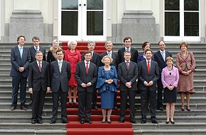 Bert Koenders - The Fourth Balkenende cabinet in 2007 with Koenders on the far left